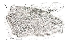 White Castle Locations Map Jerusalem At The Time Of Jesus