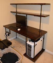 Modern Desk Tidy by Chris U0027 Industrial Computer Desk Shelves Steampunk Pipe Modern