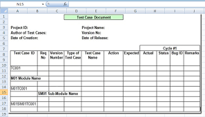 project management test case template excel xls microsoft