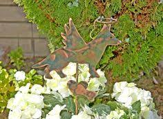 Sheet Metal Garden Art - angel cat pet memorial cats copper garden stake pet grave