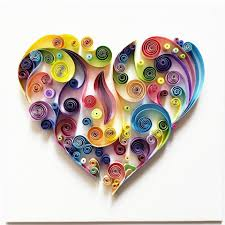 Paper Home Decor Quilled Paper Art Colourful Heart