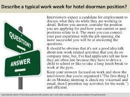 Doorman Job Description Resume by Hotel Doorman Interview Questions