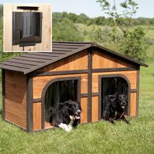 Outdoor Kennel Ideas by Wood Double Dog Kennel Outdoor Large Dog House For Two For The