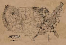 Us Map Of The United States by A Map Of The United States Drawn In The Style Of Lord Of The Rings