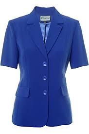 busy clothing womens royal blue short sleeve jacket amazon co uk