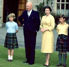 Princess Anne President Eisenhower Visiting Queen Elizabeth Princess Anne And