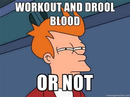 Insanity Workout Meme - insanity day 9 my 18 month old with a throat dumbbells and