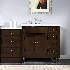 bathroom vanity with sink on right side bathroom vanity with left sink silkroad exclusive 58 inch carrara