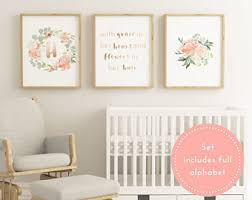 Nursery Decor Printable Blush Baby Nursery Decor Large Nursery Decor