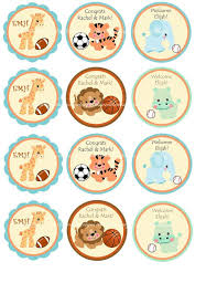 safari cake toppers for baby shower 11775
