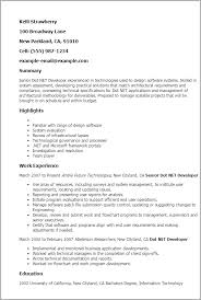 Asp Net Resume Sample by Net Developer Resume Best Resume Templates Delusions Us