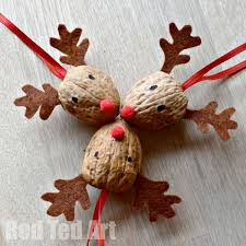 walnut crafts reindeer ornament reindeer ornaments ornament