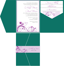 diy pocket wedding invitations purple green wedding invitation a vibrant wedding