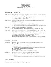 Resume Sample Substitute Teacher by Title 1 Tutor Sample Resume