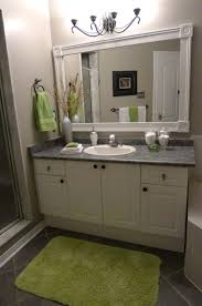 glamorous small bathroom mirror ideas feats white frame mirror