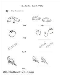Plural Nouns Worksheets Singular And Plural Nouns Worksheets For Kindergarten Free