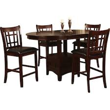 chocolate dining room table dalton 5 piece chocolate counter height dining package the brick