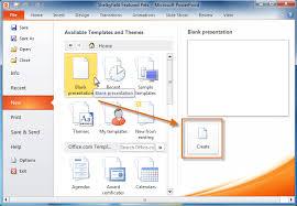 new presentation powerpoint 2007 starting a new presentation