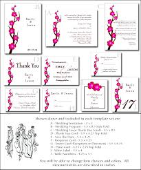 blank wedding invitation kits asian wedding invitation kit 3 printable cherry blossom templates