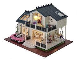 wood lego house amazon com diy wooden dollhouse miniature kit wood house toy