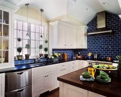 Charming Kitchen Backsplash Blue Subway Tile - Blue backsplash