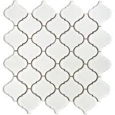 somertile 12 5x12 5 in morocco 2 5 in white porcelain mosaic tile