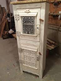 hand made steampunk clothing linen cupboard antique whitewash by