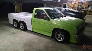 1986 nissan truck custom tandem 3 axle 6x6 pinterest nissan