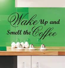 popular wall art quotes kitchen buy cheap wall art quotes kitchen wake up and smell the coffee funny kitchen wall art sticker quote wall decals 3 sizes