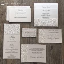 wedding invitation packages wedding invitations white cherry invitations