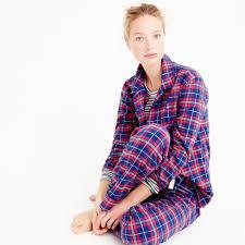 j crew sparkle plaid flannel pajama set lyst
