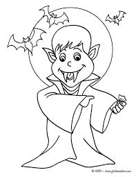 coloriages coloriage gratuit vampire fr hellokids com