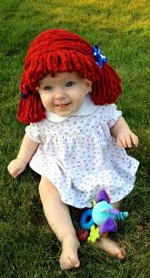 Infant Girls Halloween Costumes Raggedy Ann Wig Baby Hat Halloween Costume Baby Wig Yumbaby