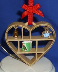 hallmark ornament loving memories 1986 heart shaped shadow box