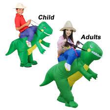 Dinosaur Halloween Costumes Kid Inflatable Rex Dinosaur Halloween Dress Party Costume