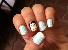 penguin nails an animal nail nail painting on cut out keep