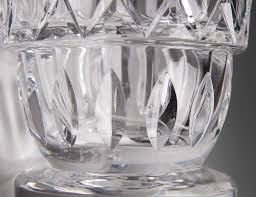 Cut Crystal Vases Antique Large Vintage Baccarat Crystal Cut Vase From Piatik On Ruby Lane