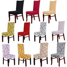 super fit stretch removable washable short dining chair cover