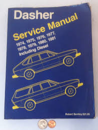 vintage volkswagen dasher service repair manual book 1974