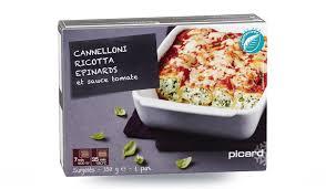 plat cuisiné picard cannelloni ricotta épinard et sauce tomate surgelés les plats