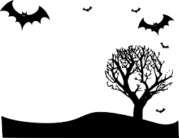 scary halloween clipart black and halloween border clipart landscape clipartxtras
