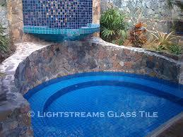 lightstreams all glass tile pool turquoise blue