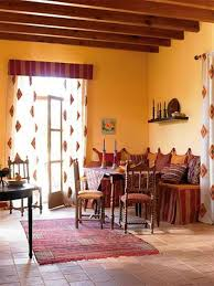 love the warm yellow orange walls in this southwest living room