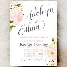 digital wedding invitations coral grey wedding invitation flower wedding invitation