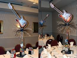 Rock And Roll Party Decorations Rock And Roll Centerpiece By The Prop Factory Via Flickr Rock