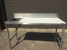 stainless steel cutting board table stainless steel table with sink and cutting board mb food equipment