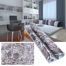 compare prices on rock wall designs online shopping buy low price 45cm x100cm maple rock texture pattern wallpaper waterproof wall paper roll for bedroom modern design living