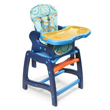 High Chair Table And Chair Badger Basket Envee Baby High Chair With Playtable Conversion
