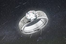 how to out an engagement ring the ring leader meteorite engagement rings out of this world