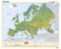 europe phisical map physical map of europe maps